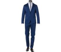 Anzug, Baumwoll-Stretch, royalblau