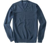 Pullover, Baumwolle, tintenblau