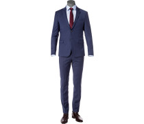 Anzug, Extra Slim Fit, Wolle, dunkelblau