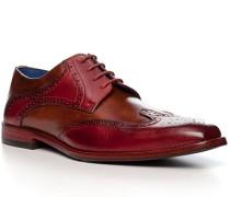 Schuhe Budapester, Kalbleder, -cognac