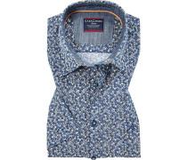 Hemd, Comfort Fit, Popeline, gemustert