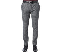 Hose Chino, Slim Fit, Flanell, meliert