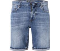 Jeansshorts Herren, Baumwoll-Stretch