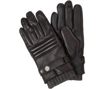 Handschuhe, Lammleder, -grau
