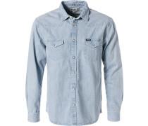 Hemd, Regular Fit, Blue-Jeans, eisblau