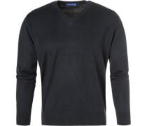 Pullover, Seide-Baumwolle, navy