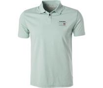 Polo-Shirt Polo, Baumwoll-Jersey, mintgrün