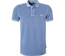 Polo-Shirt Polo, Baumwoll-Pique, hellblau