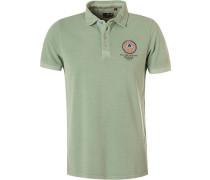 Polo-Shirt Polo, Baumwoll-Piqué, mint