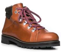 Schuhe Boots, Glattleder, cognac