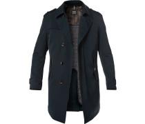 Mantel, Baumwolle wattiert, nachtblau