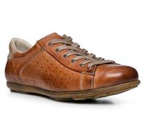 Schuhe Sneaker, Kalbleder, cognac