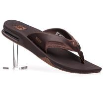 Schuhe Zehensandalen, Leder, integrierter Flaschenöffner