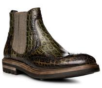 Schuhe Chelsea Boot, Leder, verde