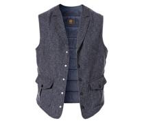 Jacke Weste, Modern Fit, Baumwolle-Wolle