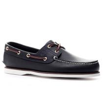 Bootsschuhe, Rindleder, navy