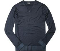 Pullover, Schurwolle, tintenblau