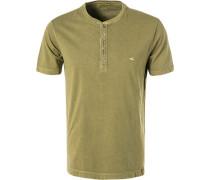 T-Shirt Polo, Baumwolle, olivgrün