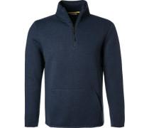 Pullover Troyer, Baumwolle, dunkelblau