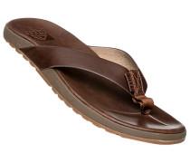 Schuhe Zehensandalen, Leder wasserbeständig
