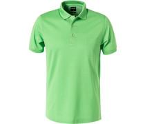 Polo-Shirt Baumwoll-Piqué, lindgrün
