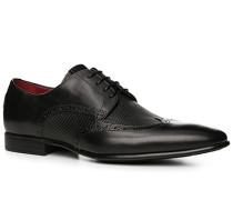 Schuhe Budapester, Leder, nero