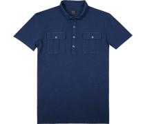Polo-Shirt Polo, Baumwoll-Jersey, nachtblau