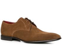 Schuhe Derby, Veloursleder, cuoio