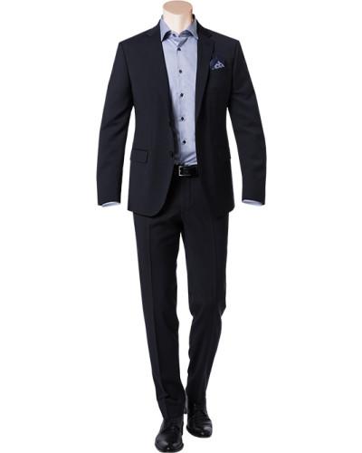 Anzug, Slim Fit, Schurwolle, nachtblau