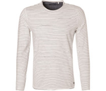T-Shirt Longsleeve, Tailored Fit, Baumwolle