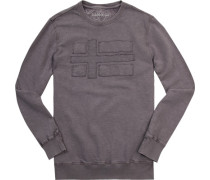 Sweatshirt, Baumwolle, taupe meliert