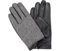 Handschuhe, Leder-Wolle, -weiß