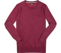 Pullover, Baumwolle, dunkelrot meliert