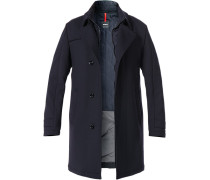 Mantel Parka, Wolle, navy