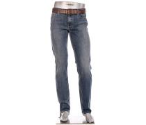 Blue-Jeans Pipe, Regular Slim Fit, Baumwoll-Stretch
