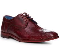 Schuhe Derby mit Gürtel, Leder, dunkelrot
