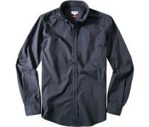 Hemd, Slim Fit, Baumwolle, nachtblau