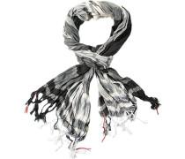 Schal, Viskose, hellgrau-schwarz kariert