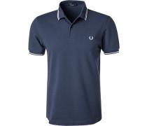 Polo-Shirt Polo, Baumwoll-Piqué, stahlblau
