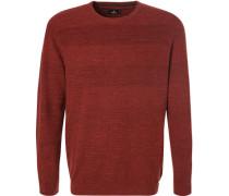 Pullover, Baumwolle, ziegelrot