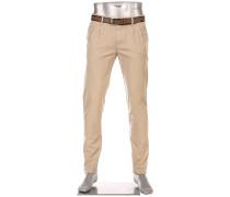 Hose Chino Pleat, Slim Fit, Baumwoll-Stretch