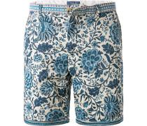 Hose Shorts, Baumwolle, weiß- gemustert