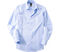 Hemd, Baumwolle, hellblau grstreift