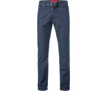 Jeans, Tapered Fit, Baumwoll-Stretch