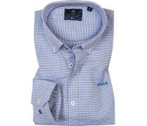 Hemd, Baumwolle, weiß- gemustert