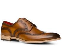 Schuhe Budapester, Leder, cuoio