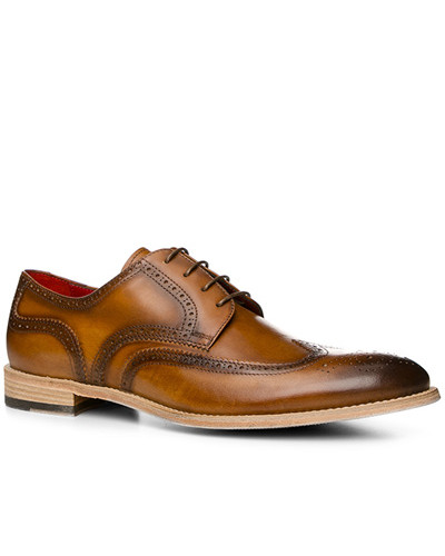 rosso e nero Herren Schuhe Budapester, Leder, cuoio