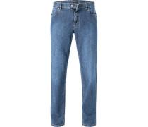 Blue-Jeans Kirk, Contemporary Fit, Baumwoll-Strech