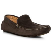 Schuhe Loafer, Veloursleder, dunkelbraun