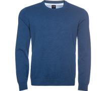 Pullover, Modern Fit, Baumwolle, jeansblau